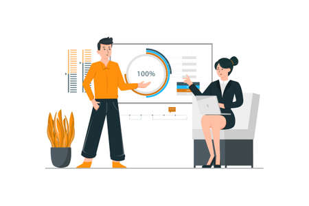 Business Vector Illustration concept. Can use for web banner, infographics, hero images. Flat illustration isolated on white background.
