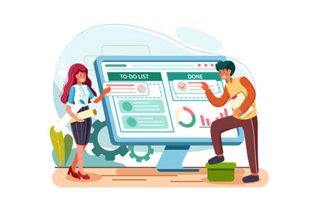 Business & Startup Vector Illustration concept. Can use for web banner, infographics, hero images. Flat illustration isolated on white background. 版權商用圖片 - 157234314