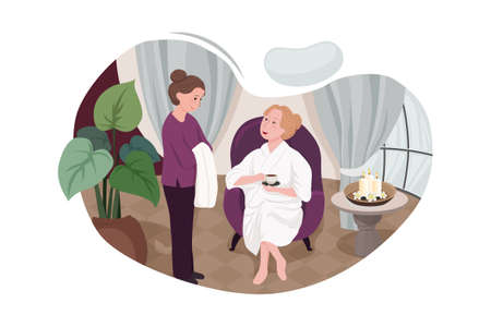 Massage Service Vector Illustration concept. Can use for web banner, infographics, hero images. Flat illustration isolated on white background. 向量圖像