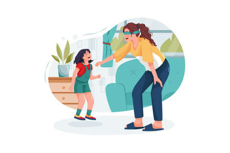 Babysitter Service Vector Illustration concept. Can use for web banner, infographics, hero images. Flat illustration isolated on white background.
