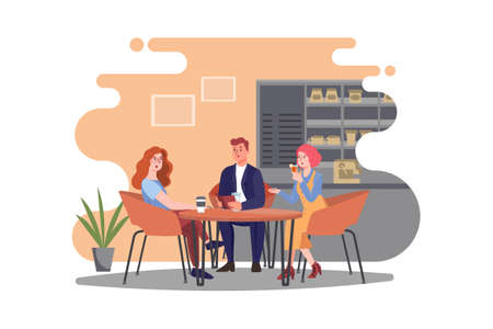 Coffee Shop Vector Illustration concept. Can use for web banner, infographics, hero images. Flat illustration isolated on white background.