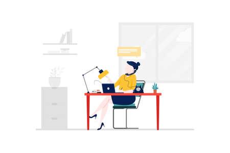 Digital Marketing Vector Illustration concept. Can use for web banner, infographics, hero images. Flat illustration isolated on white background. Vektoros illusztráció