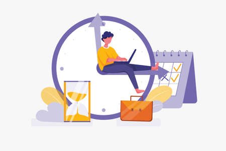 Business Vector Illustration concept. Can use for web banner, infographics, hero images. Flat illustration isolated on white background. 版權商用圖片 - 157251734