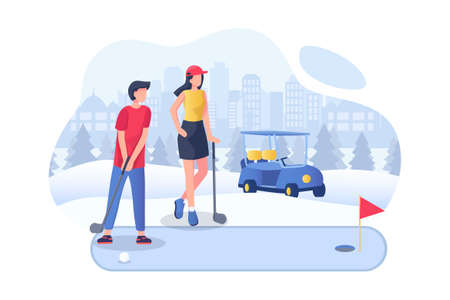 Hobbies & Sports Vector Illustration concept. Can use for web banner, infographics, hero images. Flat illustration isolated on white background.