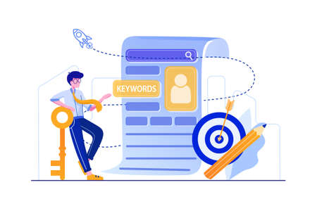 Digital Marketing Vector Illustration concept. Can use for web banner, infographics, hero images. Flat illustration isolated on white background.