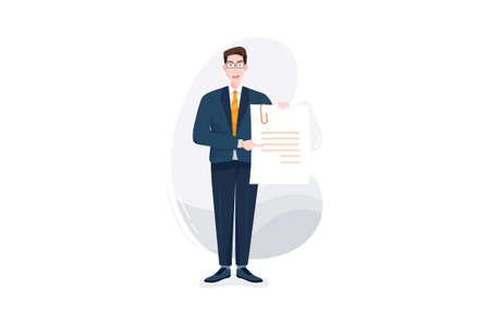 Business & Financial Vector Illustration concept. Can use for web banner, infographics, hero images. Flat illustration isolated on white background.