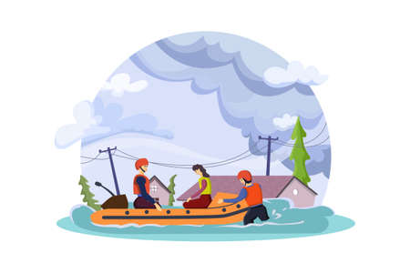 Natural Disasters Vector Illustration concept. Can use for web banner, infographics, hero images. Flat illustration isolated on white background.