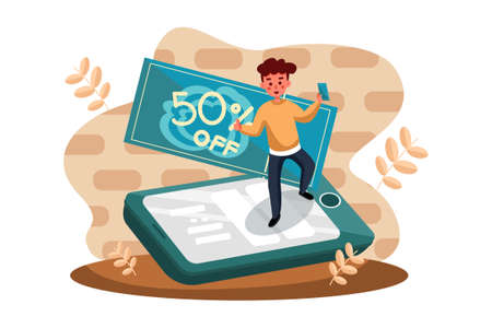 E-commerce shop Vector Illustration concept. Can use for web banner, infographics, hero images. Flat illustration isolated on white background.