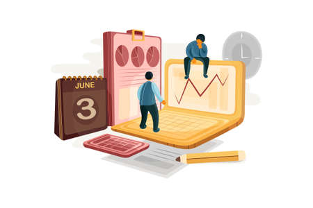 Business & Finance Vector Illustration concept. Can use for web banner, infographics, hero images. Flat illustration isolated on white background.