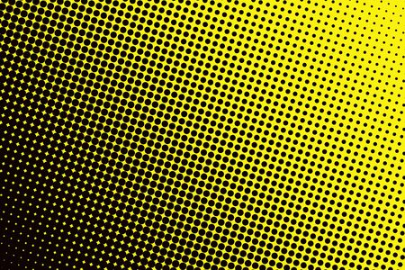 yellow black: Background with black spots yellow base Stock Photo