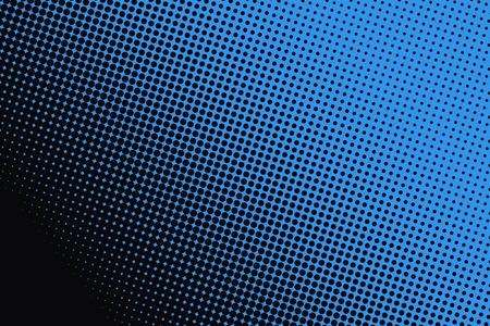 Achtergrond van blauwe stippen op een zwarte achtergrond. Stockfoto