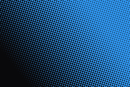 color image: Background of blue dots on black background.
