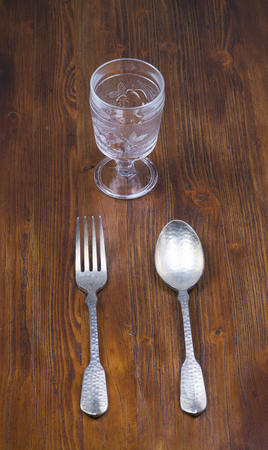 decades: Spoon, fork and glass