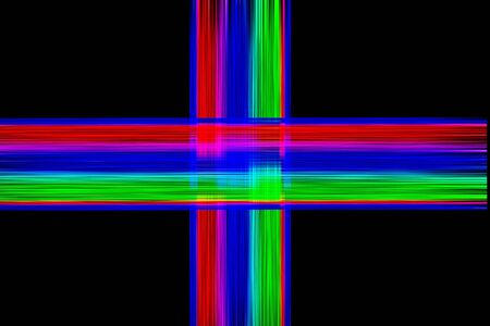 gloomy: Cross formed by lines of various colors