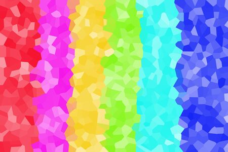 crystallized: Background of several vertical color crystallized forms