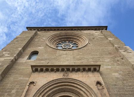 gothic castle: Main facade of a Gothic castle Editorial
