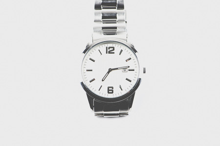 tachymeter: Clock on white background