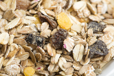朝食のための穀物のクローズ アップ。 写真素材