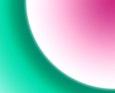 Background of abstract circular shapes of gree, white, and pink.