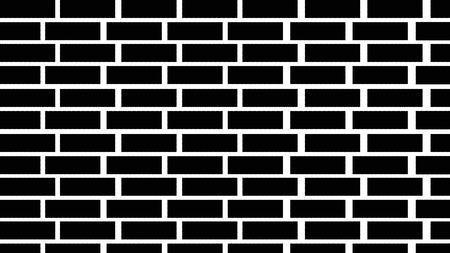 Background of brick wall of black color. Iustration