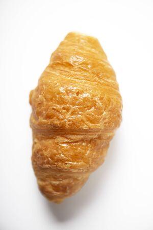 Croissant on white background.