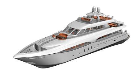 Ship, luxury yacht, boat isolated on white background