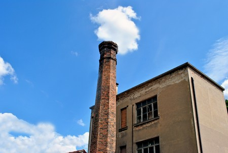 furnace chimney abandoned red brick chimney used for working in high temperature furnaces photo