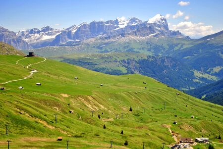 Mountain top in the Dolomiti mountains unesco val di fassa photo