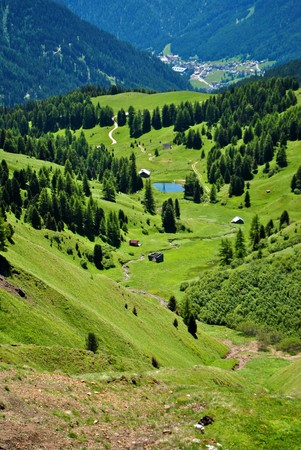 sudtirol: Summer portrait of Italian Dolomites in val di Fassa South Tyrol Alps Italy