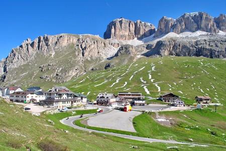 Summer portrait of Italian Dolomites in val di Fassa South Tyrol Alps Italy