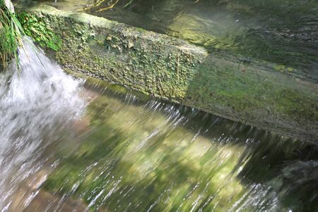 pure and sparkling waterfall falling over rocks Stock Photo - 7626117