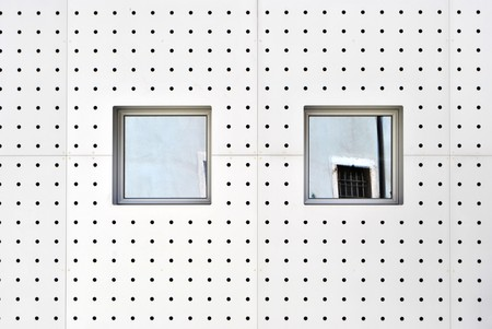 aluminum wall with holes and modern windows Stock Photo - 7688890