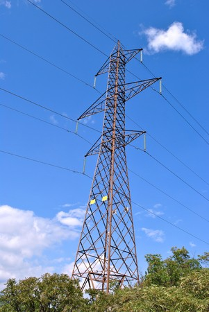 Electrical towers for transport high voltage electricity photo