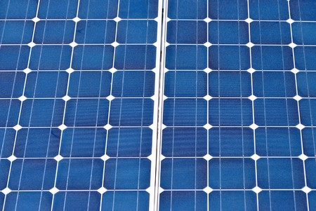 Solar Panel with background blue sky and white clouds Stock Photo - 7789342