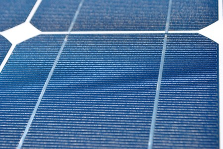 Solar Panel with background blue sky and white clouds Stock Photo - 7789489