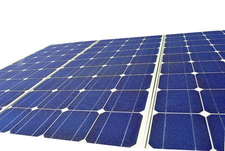Solar Panel with background white Stock Photo - 7899739