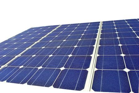 Solar Panel with background white Stock Photo - 7899739