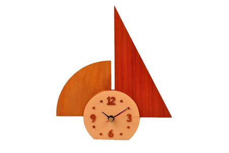 clock for home built in wood Stock Photo - 7899850