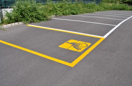 reserved sign: parking for cars and signal for the disabled