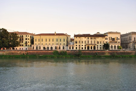 historic buildings in the city center of Verona   photo