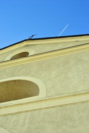 maronite: Catholic church with blue sky background