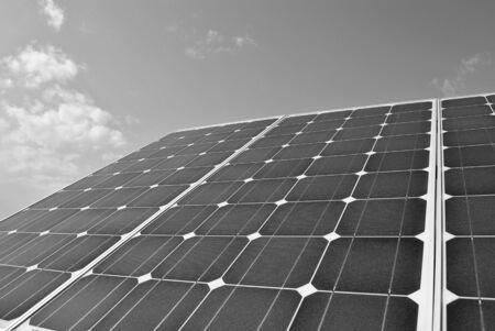 solar panel power production green economy Stock Photo - 8562160