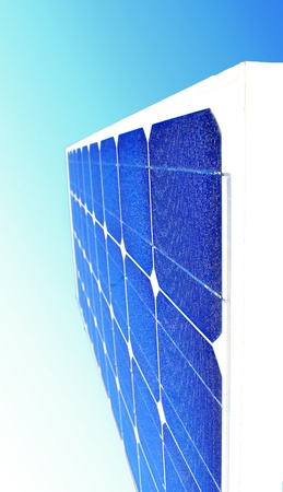 Solar Panel with background blue sky and white clouds Stock Photo - 8611035