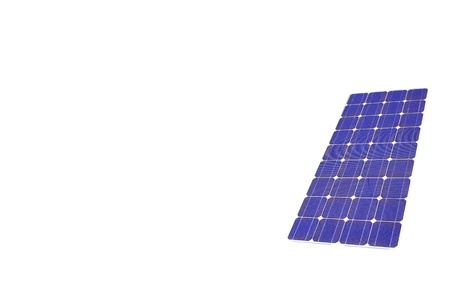 solar panel on white paper Stock Photo - 8611033