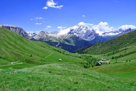 Summer portrait of Italian Dolomites in val di Fassa South Tyrol Alps Italy  Stock Photo - 8643198