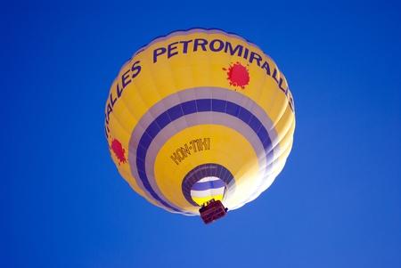 DOBBIACO, ITALY - JANUARY 15: Hot Air Balloon Festival in the Italian Dolomites January 15, 2011 In Dobbiaco, Trentino-South Tyrol - Italy