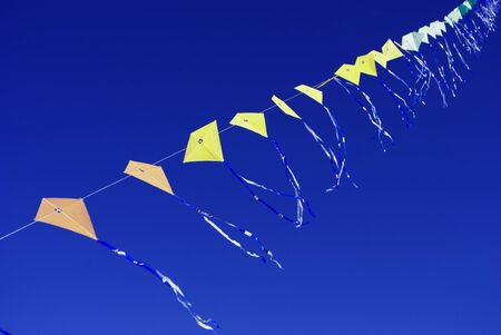 kites with blue sky background photo