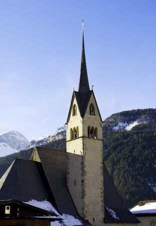 mountain church with the background of the Alps Stock Photo - 8745512