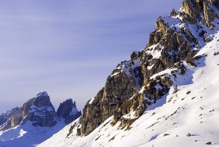 view of the Italian Alps in Val di Fassa photo