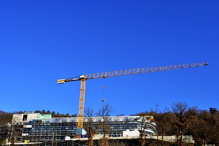 construction site for building modern with blue sky background Stock Photo - 8869583
